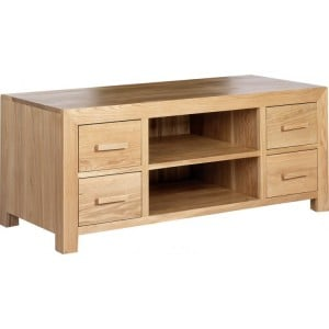 Lavaux Oak Furniture 4 Drawer Plasma TV Unit