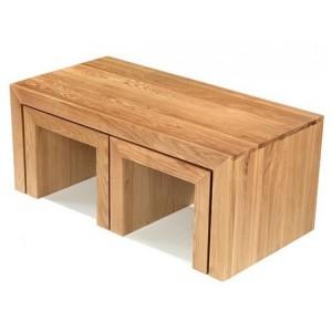 Lavaux Oak Furniture Long John Coffee Tables
