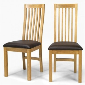 Lavaux Oak Furniture Pair Of Oak Dining Chairs