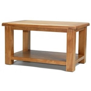 Saltaire Oak Furniture Coffee Table With Shelf