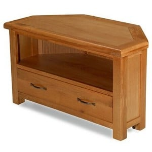 Saltaire Oak Furniture Corner TV Unit