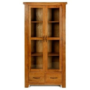 Saltaire Oak Furniture Glazed Display Cabinet