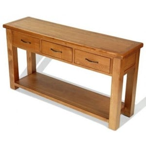 Saltaire Oak Furniture Large Console Table