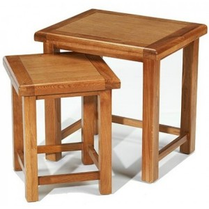 Saltaire Oak Furniture Nest Of 2 Tables