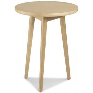 Stockholm Oak Furniture Circular Lamp Table