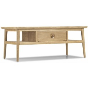 Stockholm Oak Furniture Coffee Table With Drawer