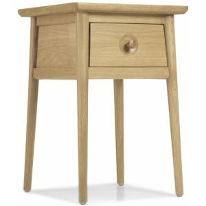 Stockholm Oak Furniture Lamp Table With Drawer