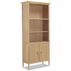 Stockholm Oak Furniture Large Bookcase With Doors