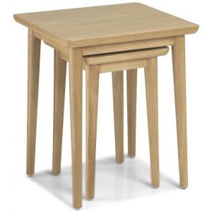 Stockholm Oak Furniture Nest Of 2 Tables