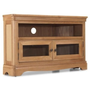 Vezelay Natural Oak Furniture Corner TV Unit