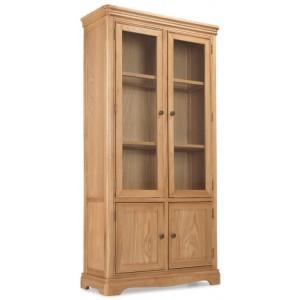 Vezelay Natural Oak Furniture Glass Display Cabinet
