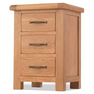 Westminster Oak Furniture 3 Drawer Large Bedside