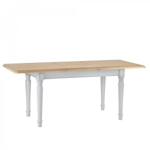 Brooklyn Essential Soft Grey & Oak Furniture 1.3m Extending Table