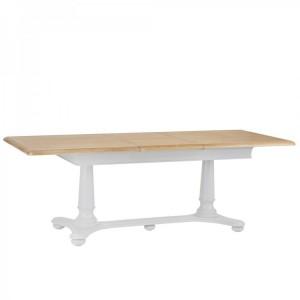 Brooklyn Essential Soft Grey & Oak Furniture 1.6m Extending Table