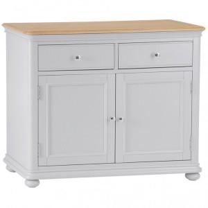 Brooklyn Essential Soft Grey & Oak Furniture 2 Drawer Sideboard
