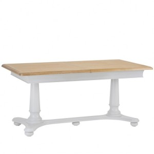 Brooklyn Essential Soft Grey & Oak Furniture 2.1m Extending Table