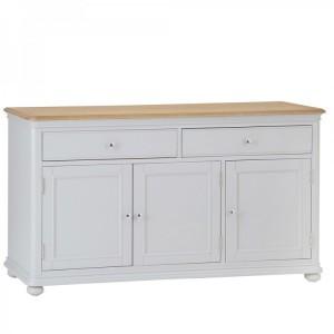 Brooklyn Essential Soft Grey & Oak Furniture Large Sideboard