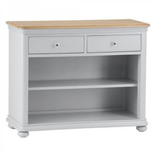 Brooklyn Essential Soft Grey & Oak Furniture Small Bookcase