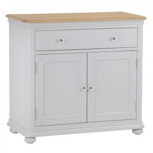 Brooklyn Essential Soft Grey & Oak Furniture Small Sideboard