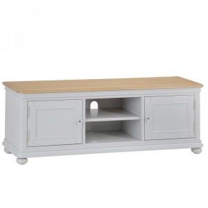 Brooklyn Essential Soft Grey & Oak Furniture TV Cabinet