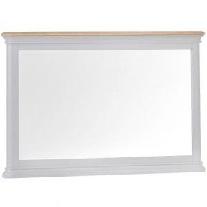 Brooklyn Essential Soft Grey & Oak Furniture Wall Mirror