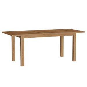Buxton Rustic Oak Furniture 1.6m Extending Dining Table