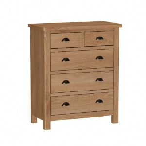Buxton Rustic Oak Furniture 2 Over 3 Chest of Drawers