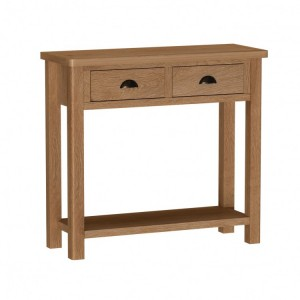 Buxton Rustic Oak Furniture Console Table