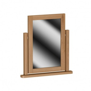 Buxton Rustic Oak Furniture Dressing Table Mirror