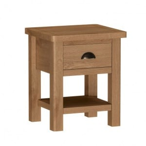 Buxton Rustic Oak Furniture Lamp Table