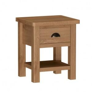 Buxton Rustic Oak Furniture Lamp Table