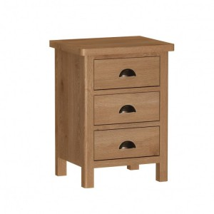 Buxton Rustic Oak Furniture Large Bedside Cabinet