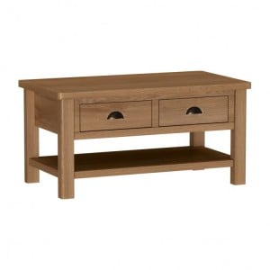 Buxton Rustic Oak Furniture Large Coffee Table