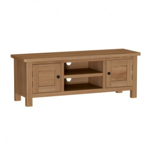 Buxton Rustic Oak Furniture Large TV Unit