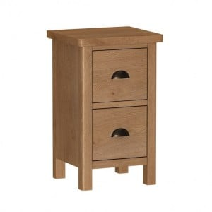 Buxton Rustic Oak Furniture Small Bedside Cabinet
