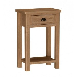 Buxton Rustic Oak Furniture Telephone Table