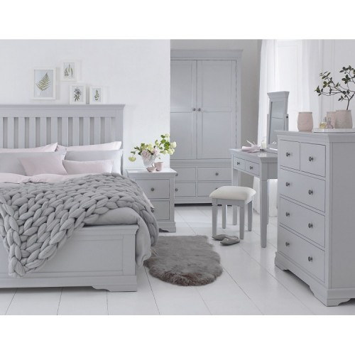 Maison Grey Painted Furniture Double 4ft6 Bedroom Set