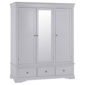 Maison Grey Painted Furniture 3 Door Wardrobe