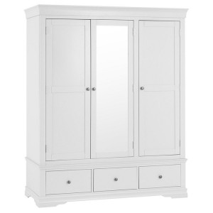 Maison White Painted Furniture 3 Door Wardrobe