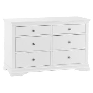 Maison White Painted Furniture 6 Drawer Chest