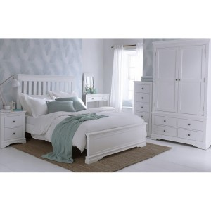 Maison White Painted Furniture Double 4ft6 Bedroom Set