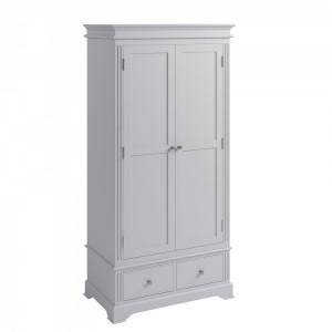 Newbury Grey Painted Furniture 2 Door Wardrobe