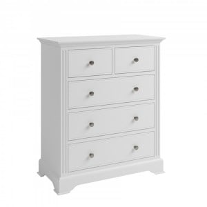 Newbury White Painted Furniture 2 Over 3 Chest of Drawers