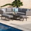 Maze Fabric Garden Furniture Pulse Flanelle Rising Table Corner Set