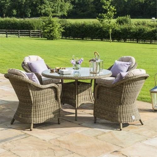 Maze Rattan Winchester Garden 4 Seat Heritage Dining Set