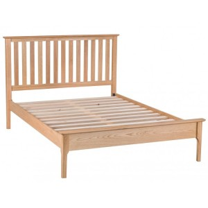 Bergen Oak Furniture 4'6 Slatted Bed