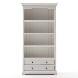 Provence White Painted Furniture Bookcase