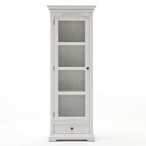 Provence White Painted Furniture Glass Cabinet