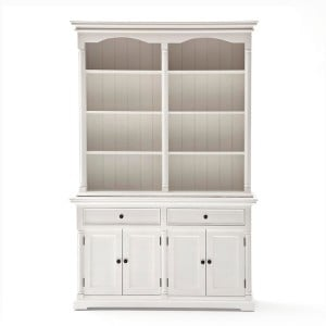Provence White Painted Furniture Hutch Cabinet
