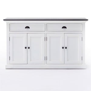 Halifax Contrast Painted Furniture Black Top Large Sideboard Buffet